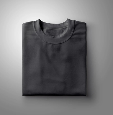 Charcoal Plain Solid T-shirt