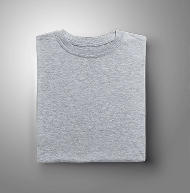 Grey Plain Solid t-shirt