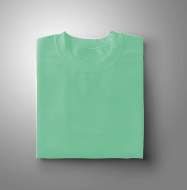 Mint Green Plain Solid T-shirt