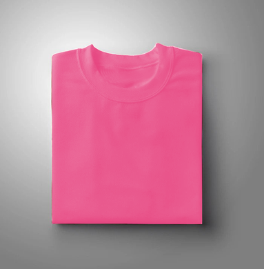 Pink Plain Solid T-shirt