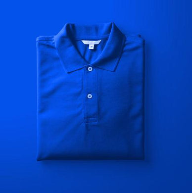Royal Blue - Polo Neck Half Sleeve T-shirt