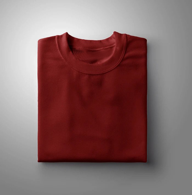 Maroon Plain Solid T-shirt