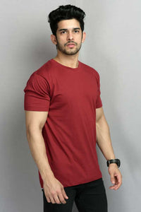 Maroon : Yellow : Navy Pack Of 3 Solid T-shirts