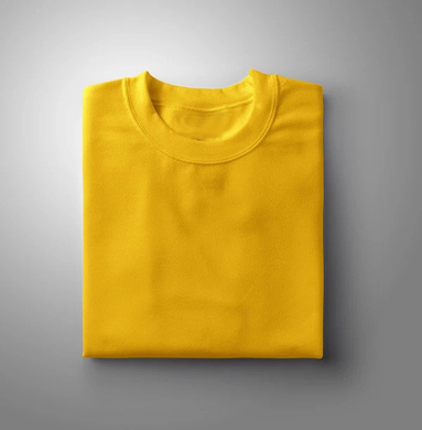 Yellow Plain Solid T-shirt