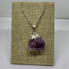 Load image into Gallery viewer, Raw Amethyst Crystal Neckalce