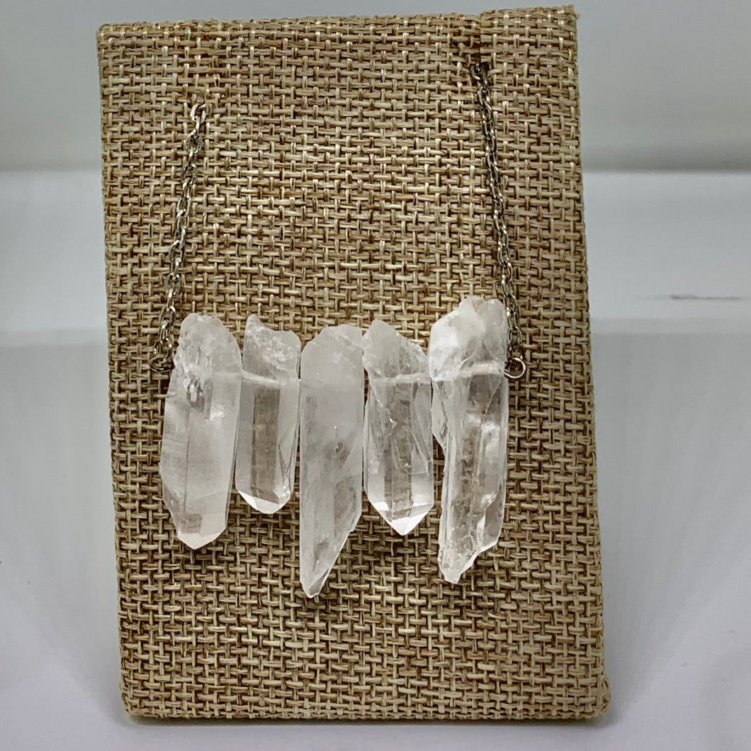 Raw Quartz Points Neckalce