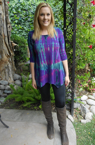 Blue/Purple Tie Dye Tunic