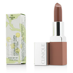 Clinique Pop Matte Lip Colour + Primer - # 01 Blushing Pop --3.9g-0.13oz By Clinique