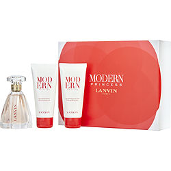 Lanvin Modern Princess By Lanvin Eau De Parfum Spray 3 Oz & Body Lotion 3.4 Oz & Shower Gel 3.4 Oz