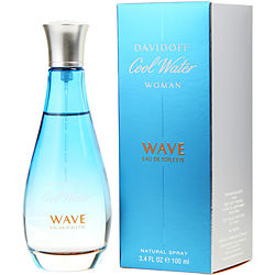 Cool Water Woman Wave By Davidoff Edt Spray 3.4 Oz
