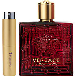 Versace Eros Flame By Gianni Versace Eau De Parfum Spray .27 Oz (travel Spray)