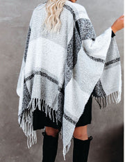 I Can Wear This All Day Poncho Gray