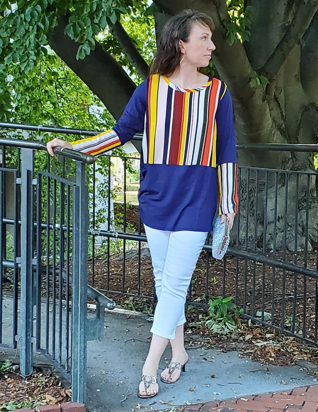 Earn Your Stripes Tunic Top