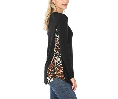 Hiding In The Forest Leopard Silky Smooth Premium Top Black