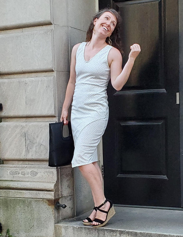 SALE - Lure Them In Sleeveless Fitted Short Dress White