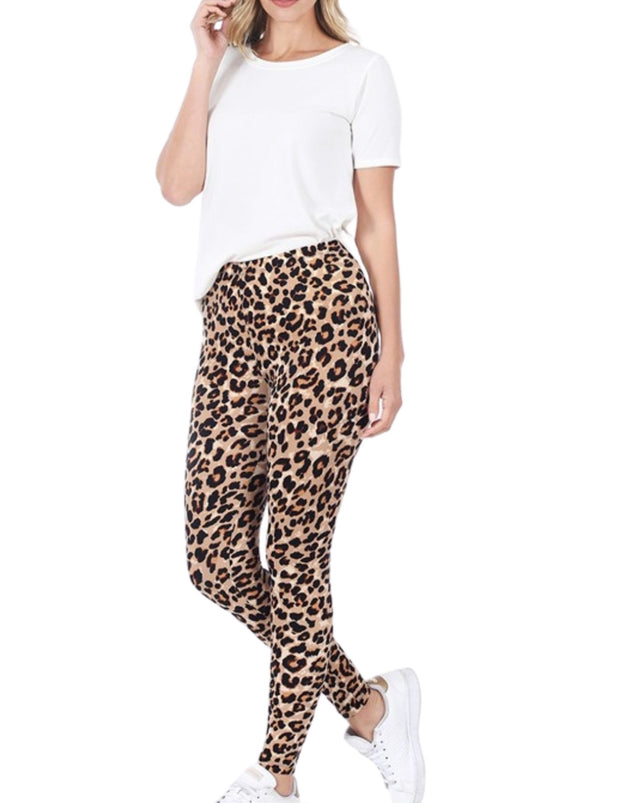Stuck On You 2 Piece Leopard Lounge Set / Pajamas  Brown