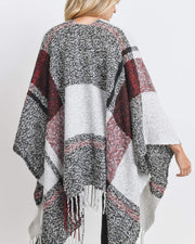 I Can Wear This All Day Poncho Burgundy