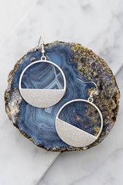 The Moon In Not The Only One Who Shines! Drop Glitter Earrings - Silver