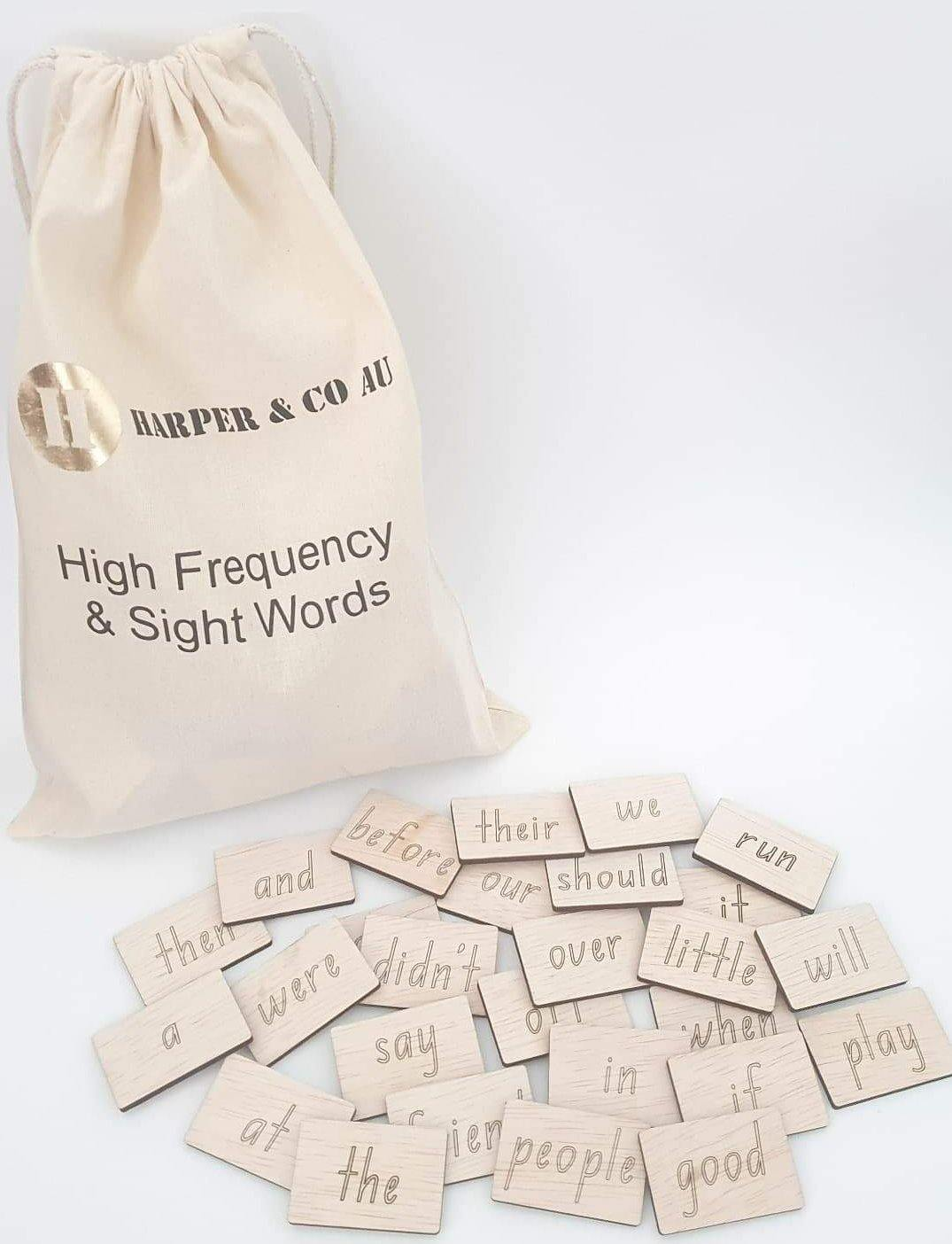 100 High Frequency & Sight Words - Harper & CO AU