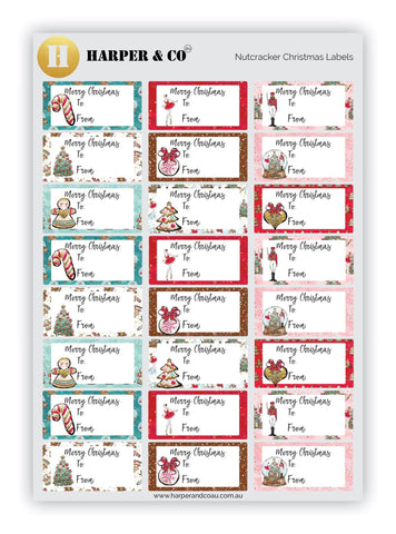 Nutcracker Christmas Labels - Harper & CO AU