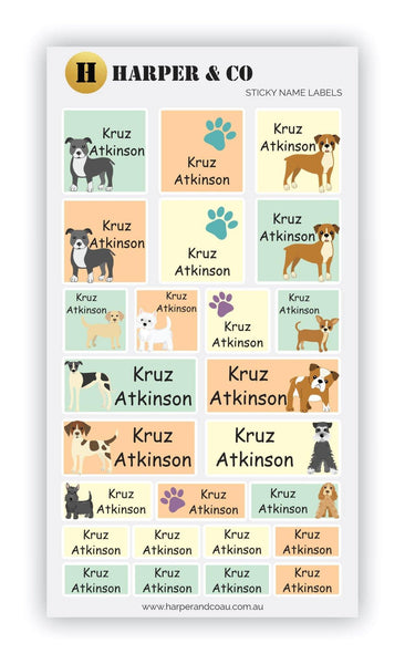 Puppy Dog Palz - Harper & CO AU Name Labels, Name Stickers, Kids Labels, Kids Stickers