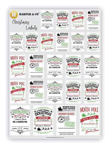 Santa Delivery Labels - Harper & CO AU