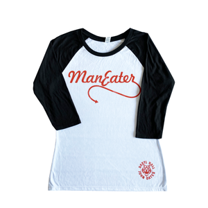 Women's Maneater Raglan