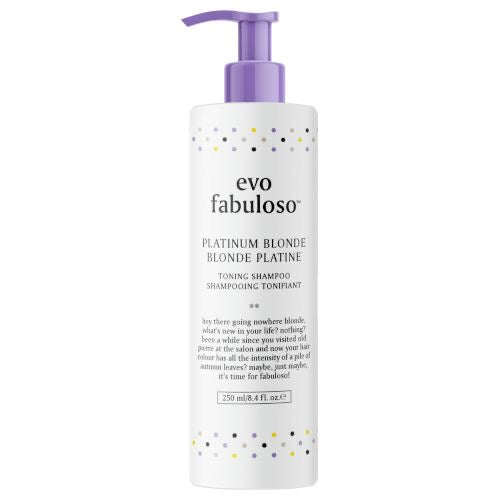 EVO FABULOSO PLATINUM BLONDE TONING SHAMPOO 250ML