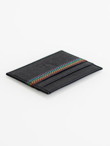 ECO Cardholder - Rainbow Thread - Black