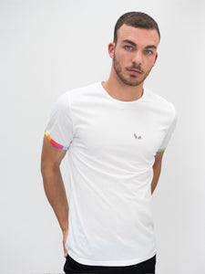 Mallorca T-shirt - Rainbow Sleeve