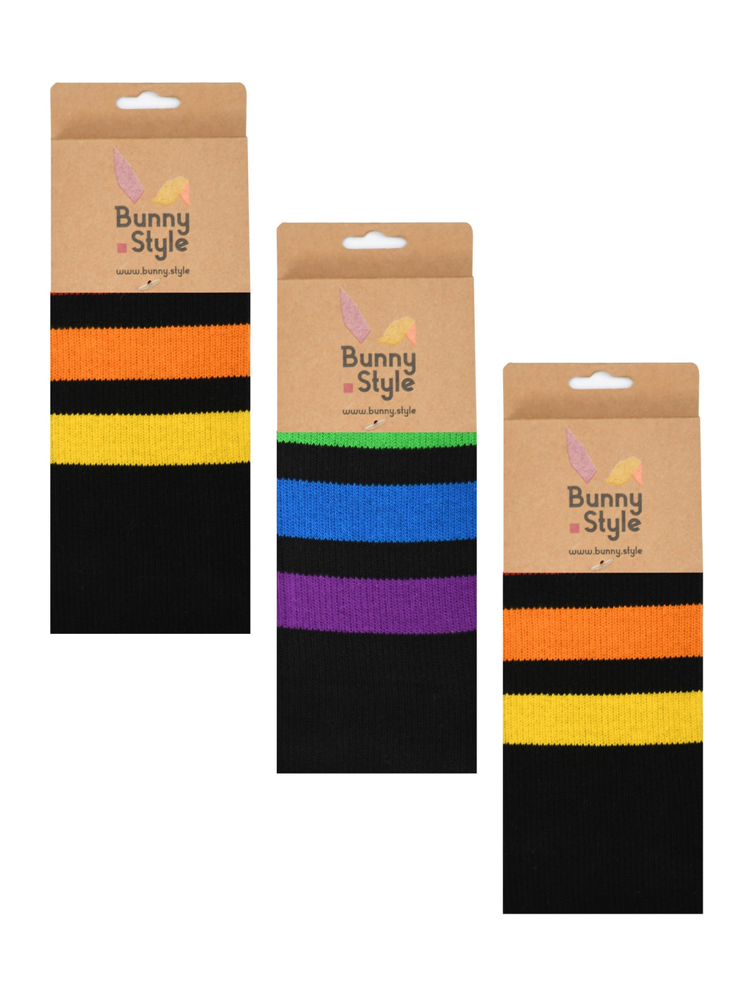Black Retro Gay LGBT Rainbow Pride Men Socks 3-pack