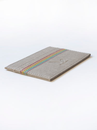 ECO Cardholder - Rainbow Thread - Grey