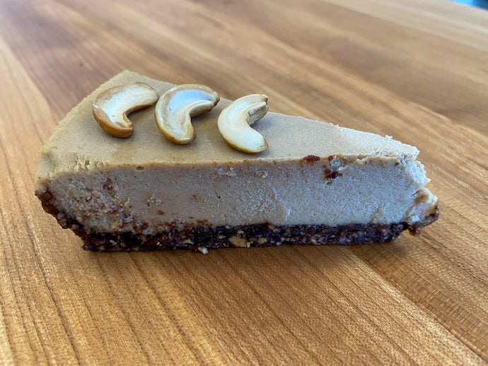 Vegan Coffee Cashew Cheesecake (8 inch pie)