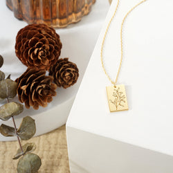 Mistletoe Rectangular Necklace