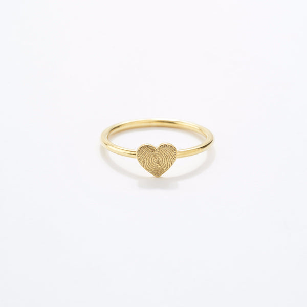 Fingerprint Heart Ring