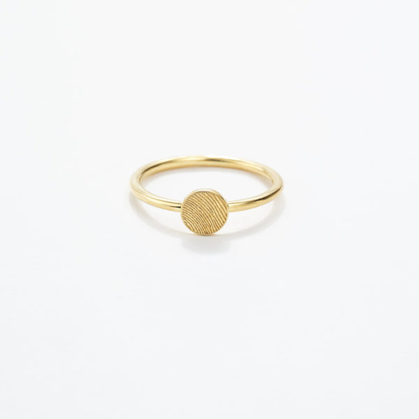 Fingerprint Circle Ring