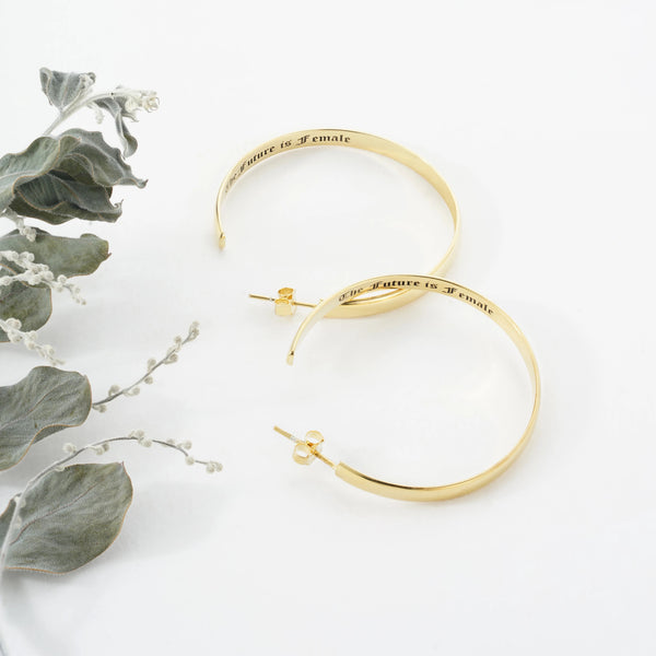 Personalized Hoop Earrings