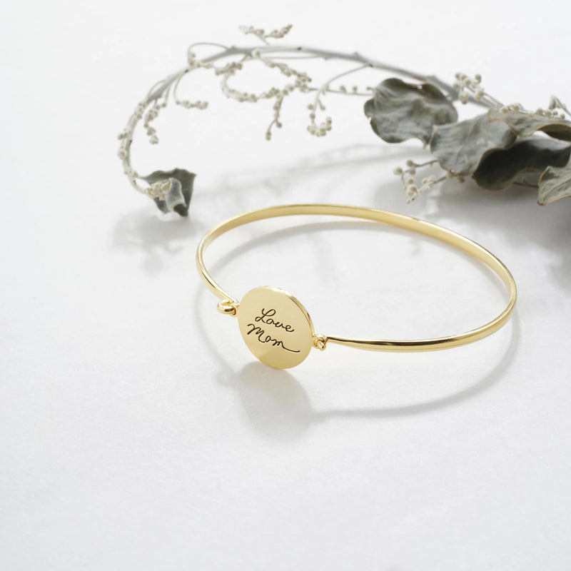 Handwriting Circle Bracelet