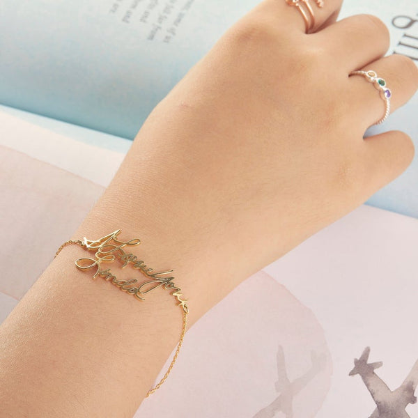 Delicate Handwriting Bracelet