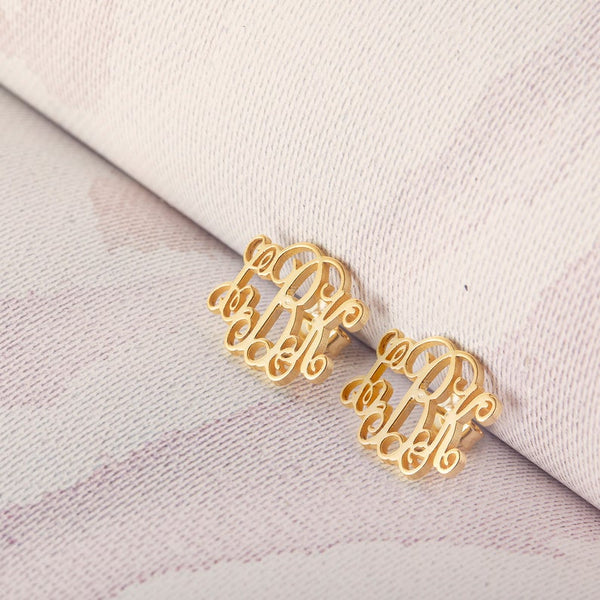 Script Monogram Earrings
