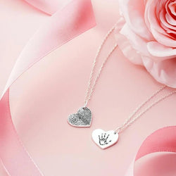 Heart Fingerprint Necklace