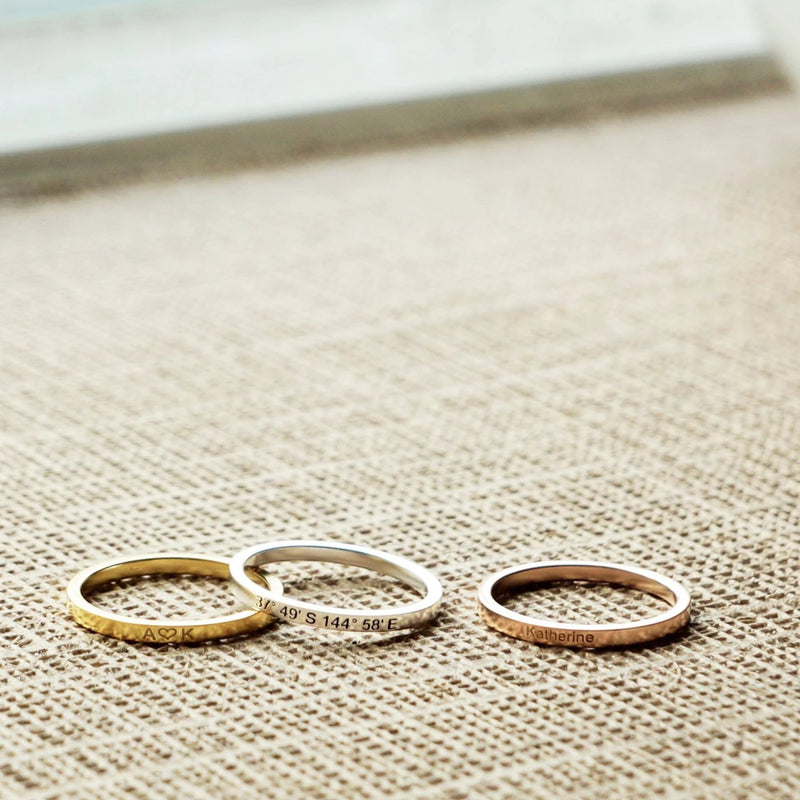 Personalized Dainty Ring
