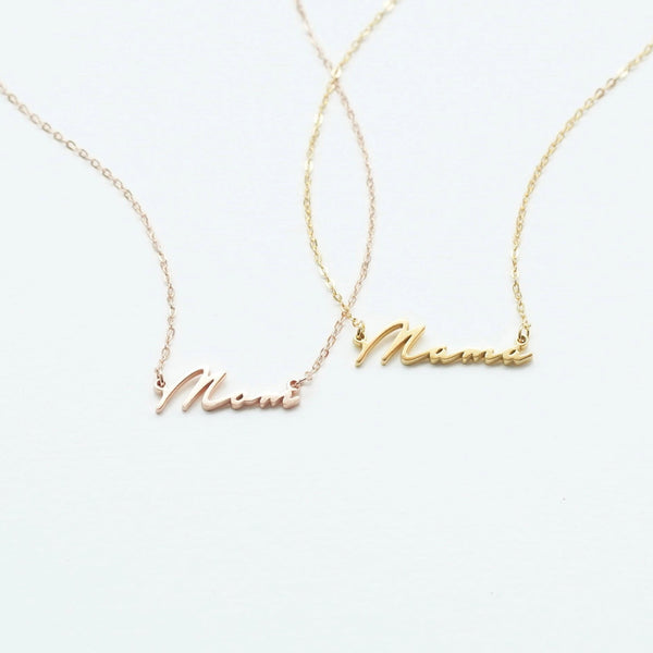 Mom/ Mama Necklace