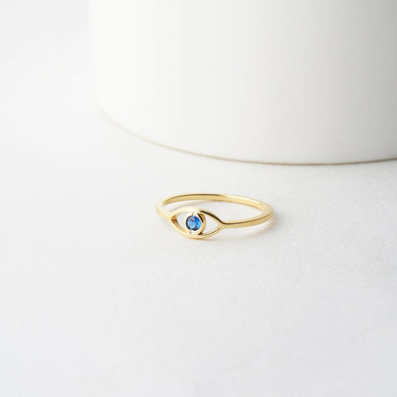 Blue Evil Eye Ring