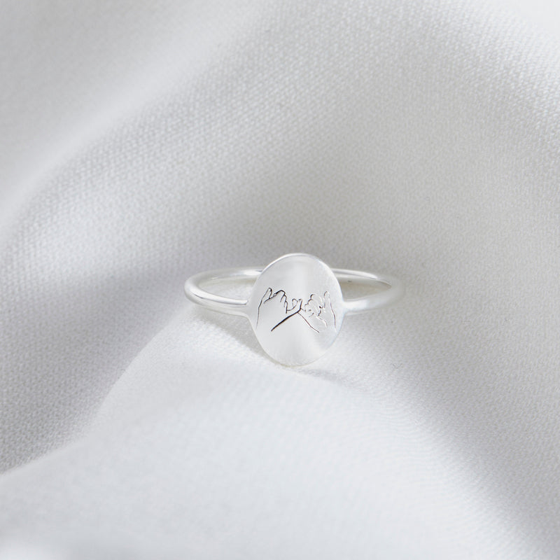 Personalized Pinky Promise Ring