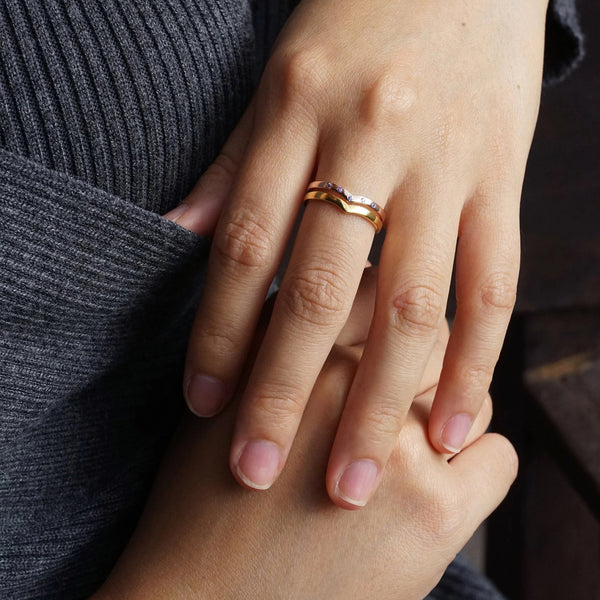 Personalized Wishbone Ring