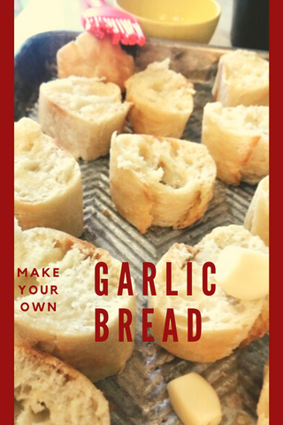 make your own homemade garlic bread fast recipe