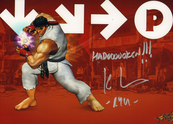 Autographed Photo from Street Fighter: Kyle Hebert as Ryu