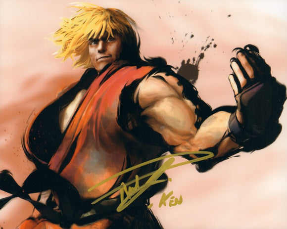 Autographed Photo from Street Fighter: Reuben Langdon as Ken-1