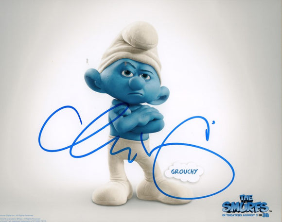 Autographed Photo from Smurfs: George Lopez as Grouchy Smurf